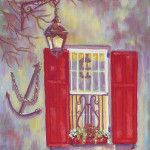 Pamela Poole Charleston Red Shutters